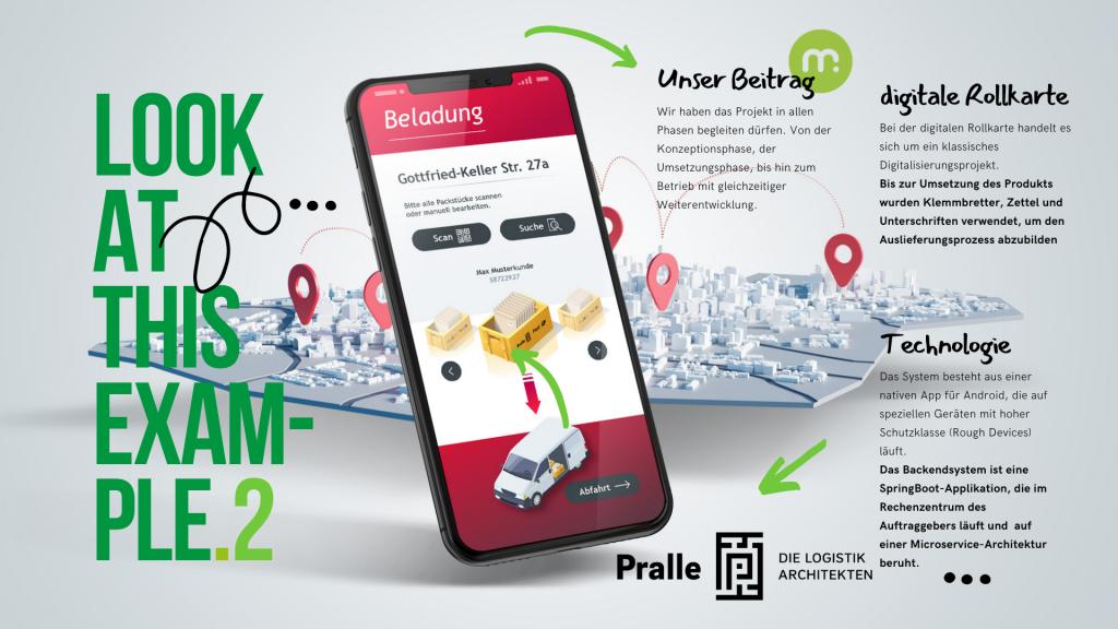 Referenzprodukt der mugs GmbH: Pralle Logistik